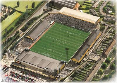Art Mobile Painting - Boothferry Park - Hull City by Kevin Fletcher