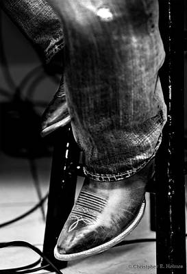 Photograph - Boots 2 Bw by Christopher Holmes