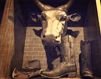 Boots And Bulls Art Print by Dan Sproul