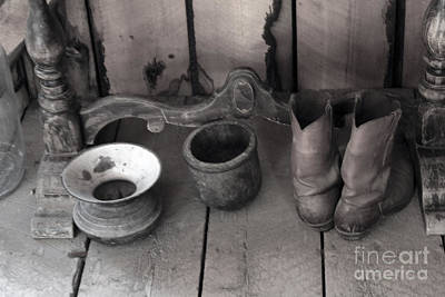 Boots And Spittoon Original by Steven Parker