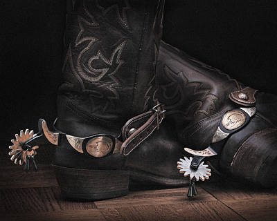 Photograph - Boots And Spurs by Krasimir Tolev