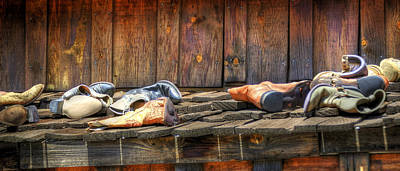 Jerry Sodorff Royalty-Free and Rights-Managed Images - Boots At Rest 21852 by Jerry Sodorff
