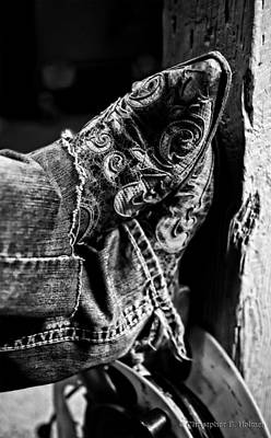 Photograph - Boots - Bw by Christopher Holmes