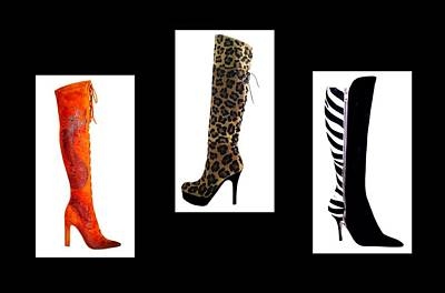 Shoes Digital Art - Boots by Cindy Edwards