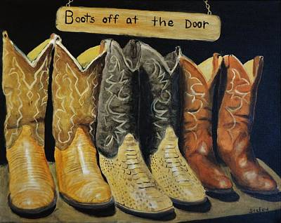 Painting - Boots Off At The Door by Stefon Marc Brown