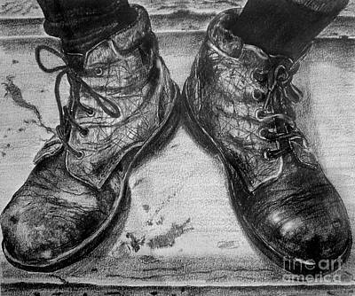 Drawing - Boots by Russ Murry