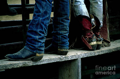 Boots Tell The Story Art Print by Bob Christopher