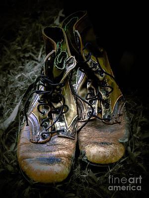 Boots That Grunt  Art Print by Steven Digman