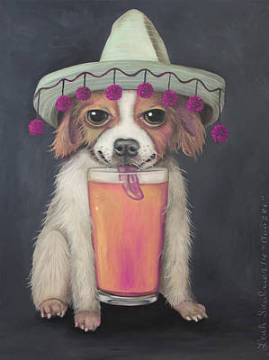 Lick Painting - Boozer Edit 2 by Leah Saulnier The Painting Maniac