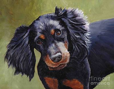 Boozer The Gordon Setter Art Print by Charlotte Yealey