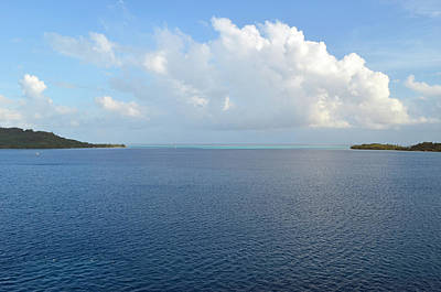 Digital Art - Bora Bora Waters by Eva Kaufman