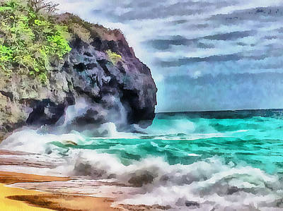 Digital Art - Boracay Puka Beach 1 by Yury Malkov