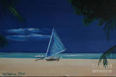 Phillipines Painting - Boracay Sands by Richard John Holden RA
