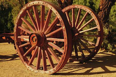 Wagon Photograph - Borax Mining Wagon, Furnace Creek by Michel Hersen