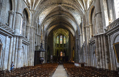 Photograph - Bordeaux Cathedral. Interior View by RicardMN Photography