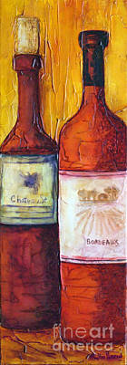 Mixed Media - Bordeaux Vino by Phyllis Howard