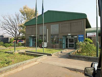 Border Crossing Building In Zambia Art Print
