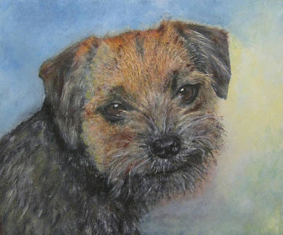 Painting - Border Terrier Jack by Richard James Digance