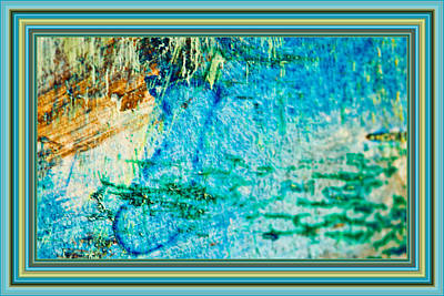 Painting - Borderized Abstract Ocean Print by Marie Jamieson