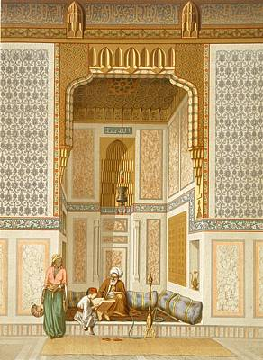 Religious Drawing - Bordeyny Mosque, Cairo by French School