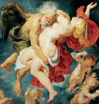 Painting - Boreas Abducting Oreithya by Pg Reproductions