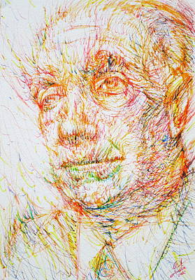 Luis Drawing - Borges by Fabrizio Cassetta
