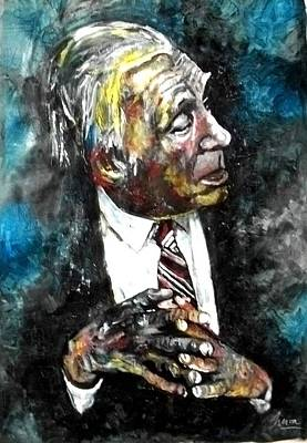 Luis Mixed Media - Borges by Marcelo Neira