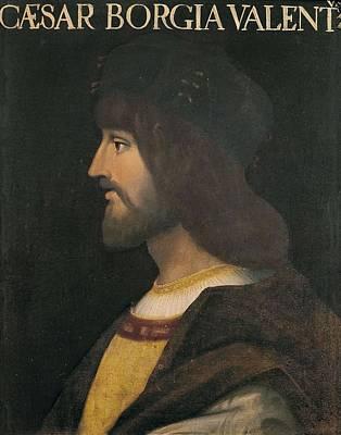 Borgia, Cesare 1475-1507. Portrait Art Print by Everett