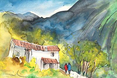 Rural Scene Drawing - Borgo In Italy 01 by Miki De Goodaboom