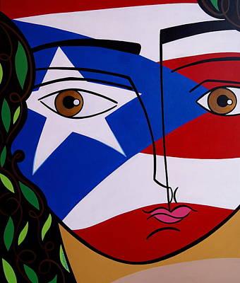 Borincana Art Print by Mary Tere Perez
