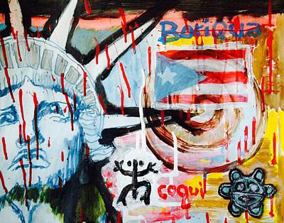 Boriqua Liberty Art Print by Daniel P Cronin