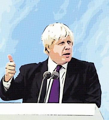 Digital Art - Boris Johnson Mayor Of London by Liz Leyden
