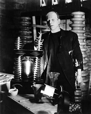 Boris Karloff In Frankenstein  Art Print by Silver Screen