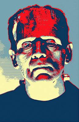 Frankenstein Mixed Media - Boris Karloff In The Bride Of Frankenstein by Art Cinema Gallery