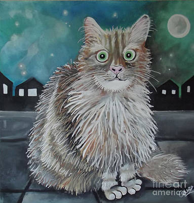 Painting - Boris The Cat by Caroline Peacock