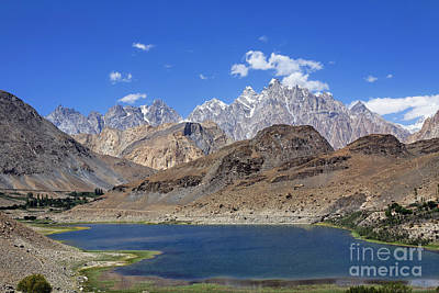 Borith Lake And Mountains Art Print by Robert Preston