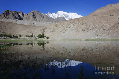 Borith Lake At Passu In Pakistan Art Print by Robert Preston