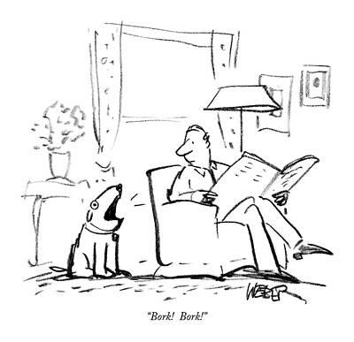 Senate Drawing - Bork!  Bork! by Robert Weber