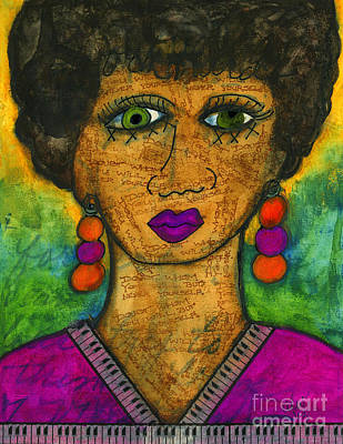 Mixed Media - Born A Little Imperfect by Angela L Walker