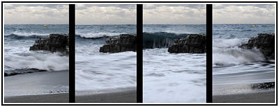 Tide Photograph - Secuence Of A Wave In Cala Mesquida - Minorca - Born And Die Of A Dream - Live Of A Wave- by Pedro Cardona