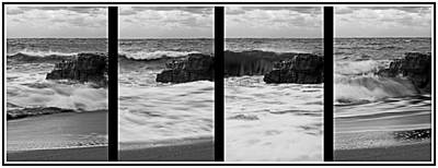 Seascape Photograph - Secuence Of A Wave In Cala Mesquida - Born And Die Of A Dream - Live Of A Wave- Silver Edition by Pedro Cardona Llambias