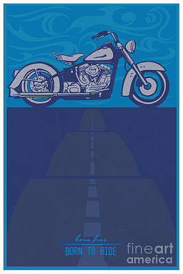 Motorcycle Wall Art - Painting - Born Free Born To Ride by Sassan Filsoof