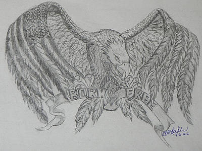 Drawing - Born Free by Cheryl McKeeth