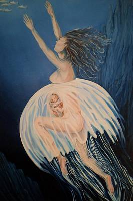 Painting - Born Of Water - Naitre De L'eau by Therese Rouleau