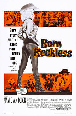 Born Reckless, Us Poster Art, Mamie Van Art Print