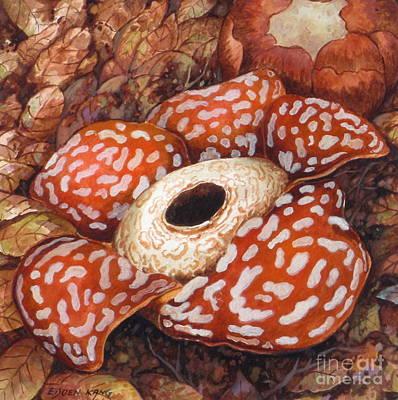 Painting - Borneo Rafflesia II by Edoen Kang