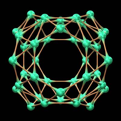 Molecule Photograph - Borospherene Molecule by Dr Mark J. Winter