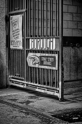 Photograph - Borough Market Gate by Heather Applegate