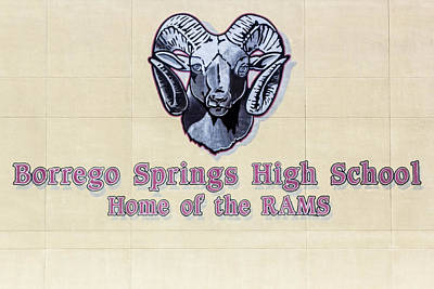 Digital Art - Borrego Springs High School by Photographic Art by Russel Ray Photos