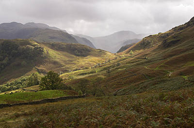Borrowdale Towards Great Gable Art Print by Pete Hemington